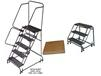 SPRING LOADED CASTERS LADDERS
