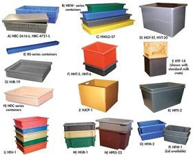 HEAVY-DUTY MOLDED PLASTIC CONTAINERS