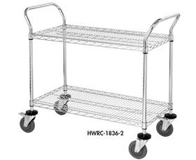 CHROME WIRE SHELVING CARTS